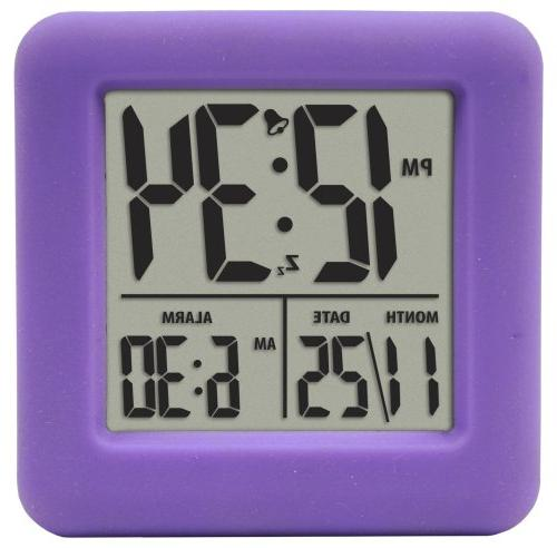 Equity by 70904 Equity Soft Cube Lcd Alarm Clock