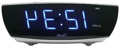 75903 Crosse Powered Blue Display Digital Alarm