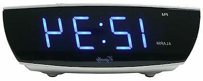 75903 Crosse Powered Blue Display Digital Alarm