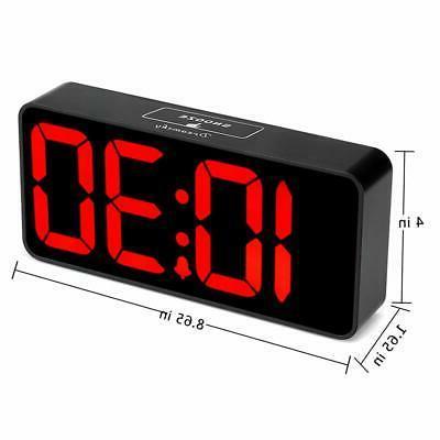 DreamSky 8.9 Inches Large Digital Alarm Clock USB Charging Fully 12