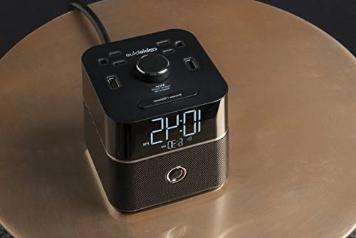 Brandstand CubieBlue Alarm with Bluetooth Speaker