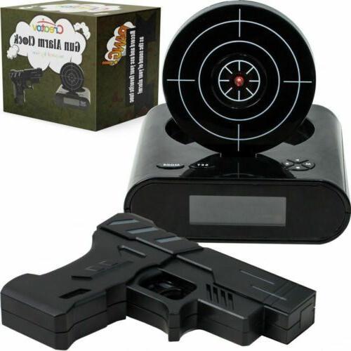 Creatov Alarm Clock with Infrared Laser Gun - Black