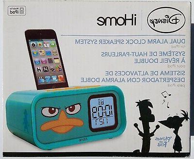 Disney iHome Phineas & Ferb Dual Alarm Clock Speaker System
