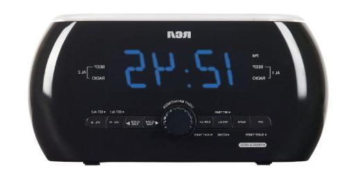 Dual Wake AM/FM Alarm Light Clock Radio with Soft Light Moti