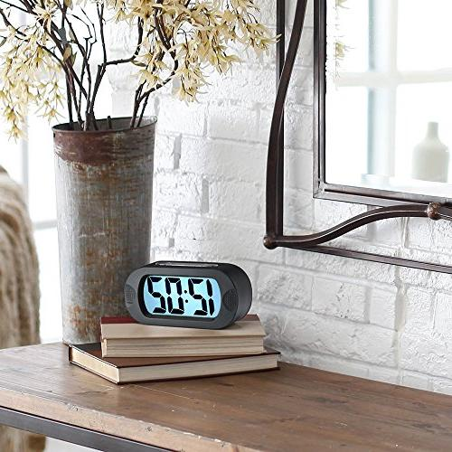 Large Digital Travel Alarm Clock Good Night Ascending Sound Alarm & Sized, Best Kids