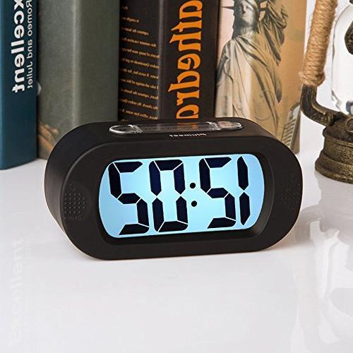 Easy Large Digital Alarm Clock Good Night Light, Sound Alarm & Sized, Best Gift Kids