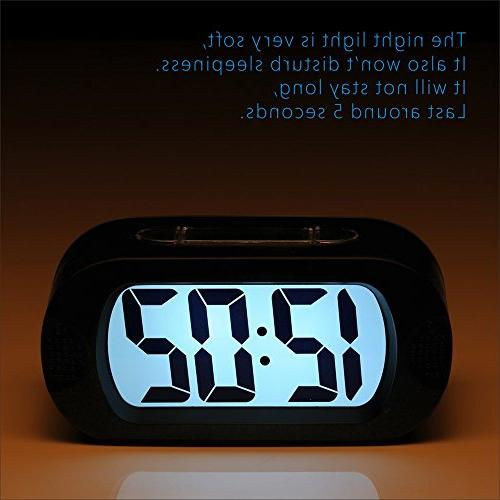 Easy Plumeet Large Travel Alarm Clock with Snooze Good Sized, for Kids