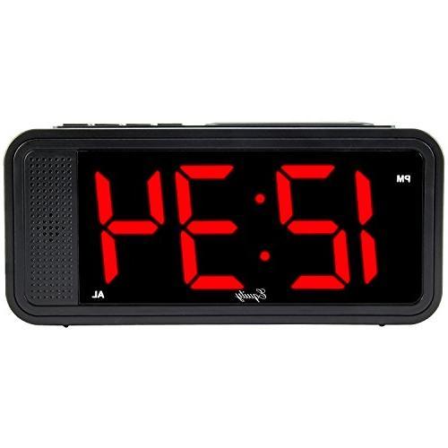 "Equity by La Crosse 75907 1.8"" LED Simple Set Alarm Clock wi"