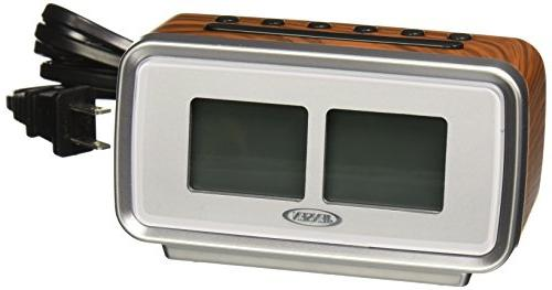 Jensen AM/FM Alarm Clock with Retro Flip