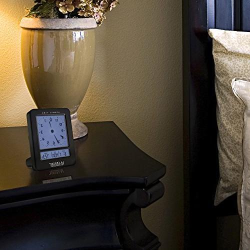 Atomic Digital Alarm Clock, Black