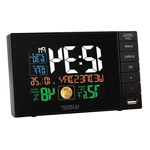 La Technology C87207 C87061 Clock USB Charging Port