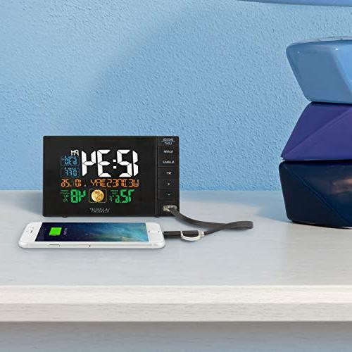 La Crosse Technology C87207 C87061 Alarm Clock with USB Port