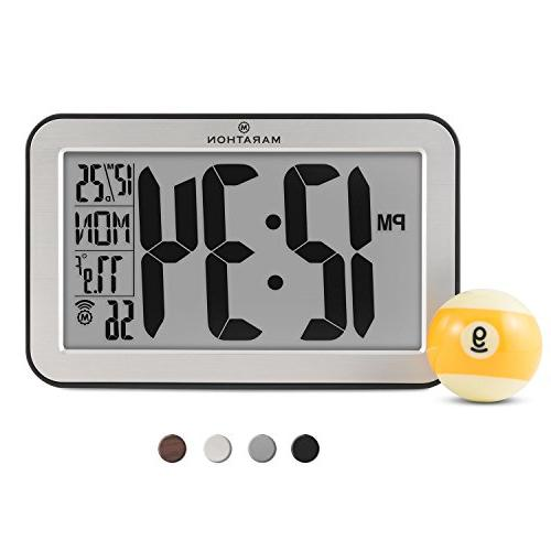 Marathon Commercial Grade Panoramic Atomic Wall Clock with T
