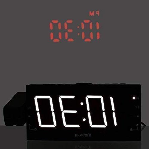 Mesqool Clock for Ceiling, Kitchen, Desk, Wall, Travel, Home FM Dual Battery Backup