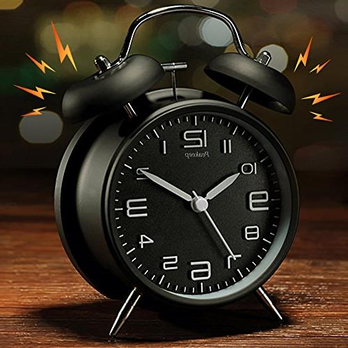 Peakeep Twin Bell Alarm Clock Dial, Backlight, Loud Clock