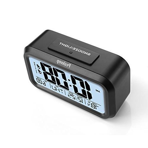 Peakeep Battery Alarm Clock for Night