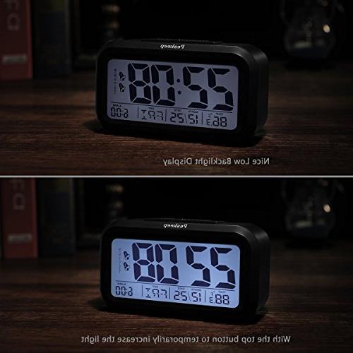 Peakeep Alarm Clock with 2 for Optional Night Light