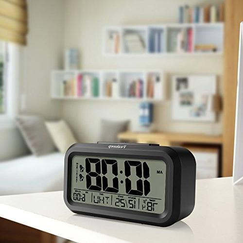Peakeep Digital Alarm Clock with for Weekday Night Light