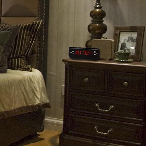 Peakeep Digital FM Alarm Clock Dual Snooze, Sleep Timer