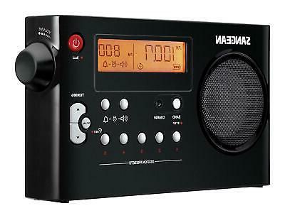 Sangean PR-D7 BK AM/FM Digital Rechargeable Portable Radio -