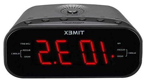 Timex T231GY Alarm Radio 1.2-Inch Red Display and Line-In