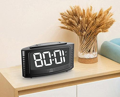 DreamSky Digital with Snooze, White Led with Dimmer, Beep Sound, Simple Powered