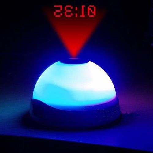 FunnyToday365 Time Projection Snooze Function Backlight Digital Circular Electronic Despertador
