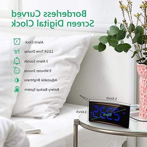 "PICTEK Clock, 5"" Dimmable Screen Digital Clock for Kids Number Clock, Snooze,"