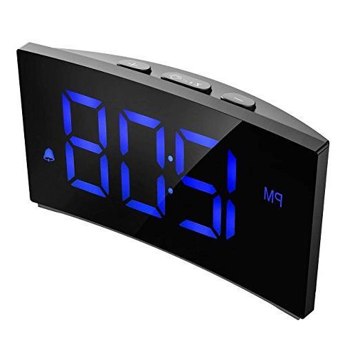 "PICTEK 5"" Curved Dimmable Screen for Kids Number 6 Brightness, Snooze, 12/24 USB Port"