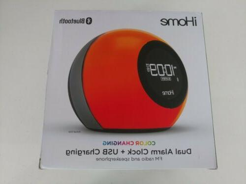 Sound Design iBT231B iHome Bluetooth Dual Alarm FM Clock Rad