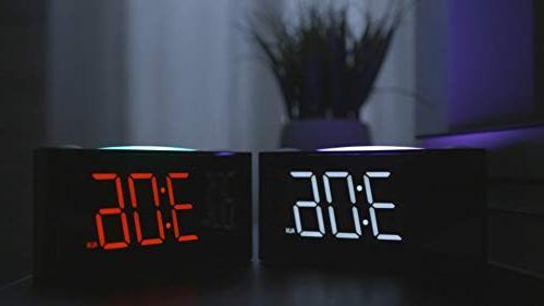 """Rocam Digital for - 6.5"""" Dimmer, 7 Color Night Set, USB Chargers, Battery Backup, 12/24 Heavy Kids, Desk, Elderly"""