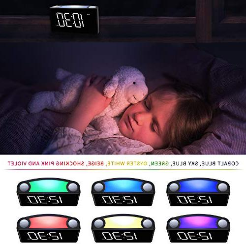 "Rocam Alarm for 6.5"" LED Dimmer, Snooze, 7 Night Easy Set, USB Backup, Heavy Sleepers, Elderly"