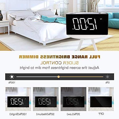 "Rocam Digital Alarm Clock for Large 6.5"" Display with Night Light, Set, Backup, 12/24 Heavy Kids, Elderly"