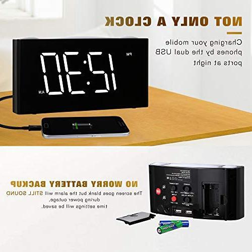 """Rocam for 6.5"""" Dimmer, Snooze, 7 Color Set, USB Backup, Heavy Kids, Elderly"""