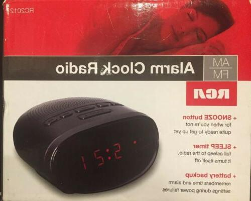 RCA Alarm Clock Radio LED Display Sleep Timer