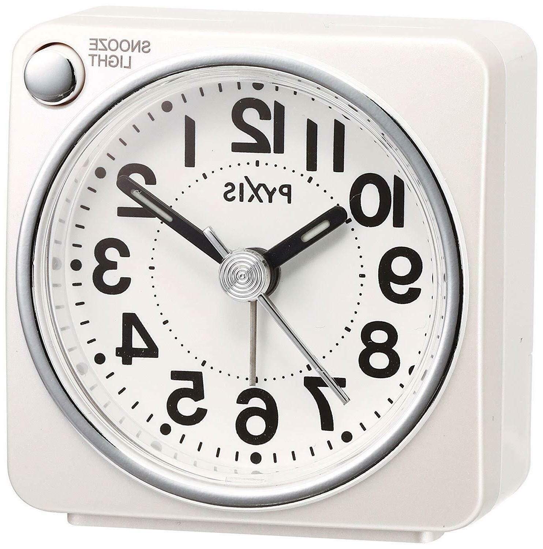 alarm clock analog pyxis pixcis nr437w white