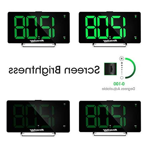 Large Alarm LED Alarm Port 0-100 Seniors Big Number Green Alarm for Bedrooms