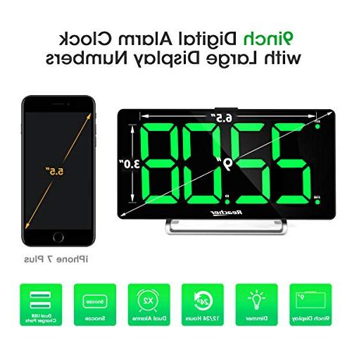 "Large Alarm 9"" LED Digital Alarm Port Seniors Simple Number Clocks"