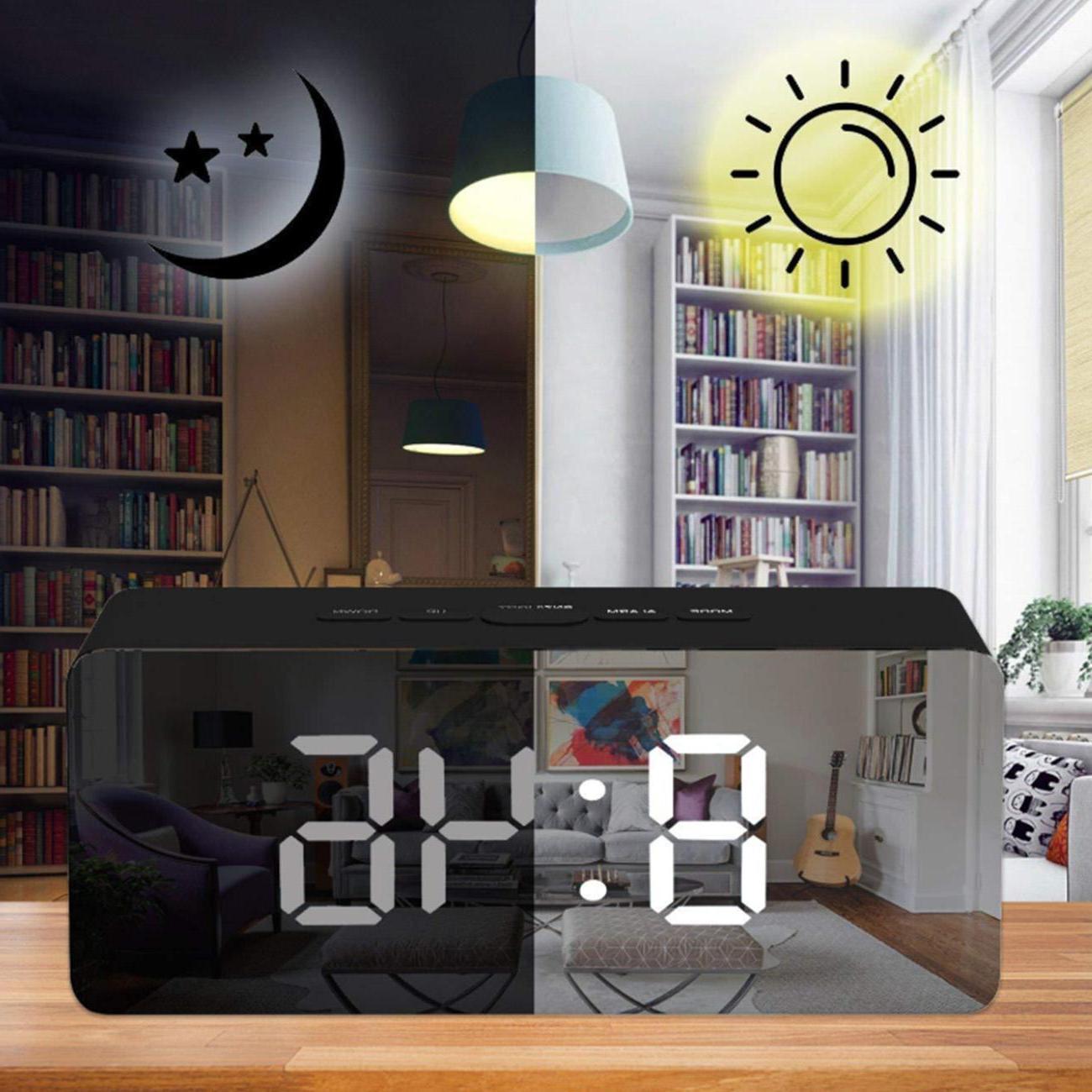 alarm clock large digital led display portable