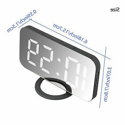 Digital Alarm Clock Display Portable