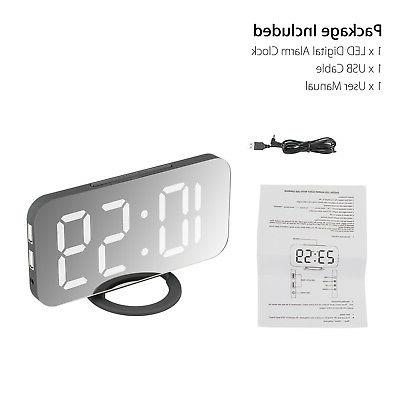 Alarm Clock LED Battery Operated