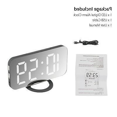 Alarm Clock LED Battery Operated