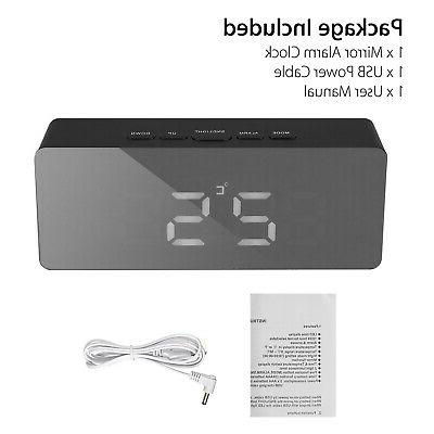 Alarm LED Display Portable Modern Battery Operated