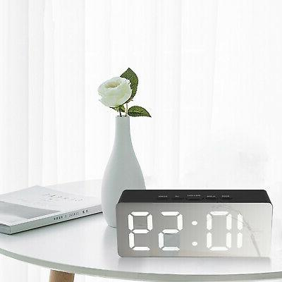 Alarm Large LED Display Battery Operated Mirror