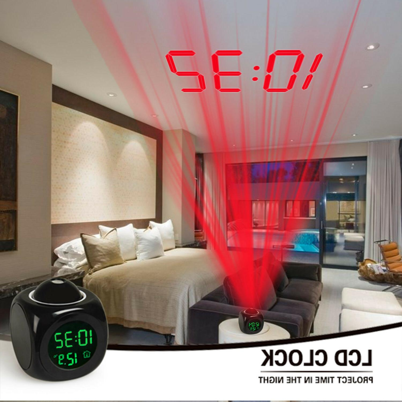Alarm Wall/Ceiling Projection Digital Talking Temperature US