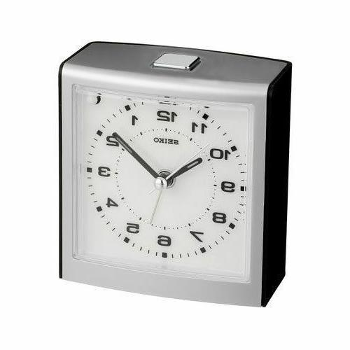 alarm clock qhe129klh quiet sweep hand brand
