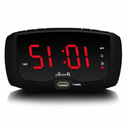 DreamSky Digital Clock Radio FM Inches Large LED Number