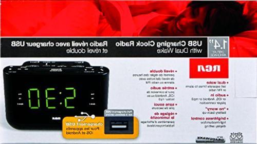 """RCA Radio, Alarm USB Alarm 1.4"""""""