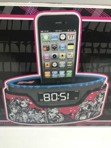 alarm clock radio iphone ipod dock charger