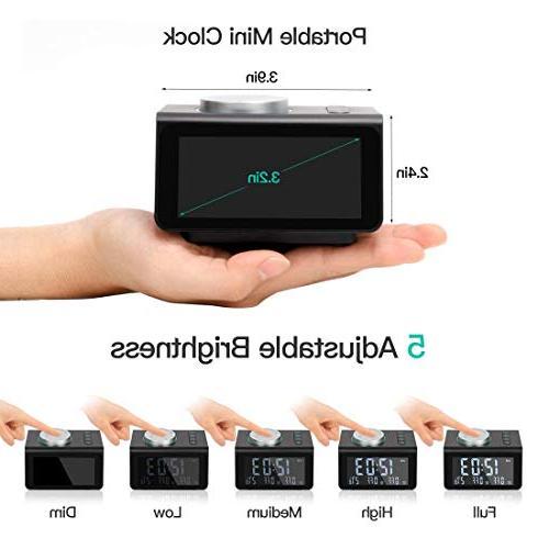 ANJANK Radio with FM Radio,Dual USB Ports,Temperature Alarms with Jack,Bedrooms Sleep Timer
